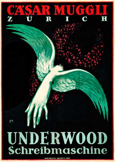 Cäsar Muggli typewriter poster