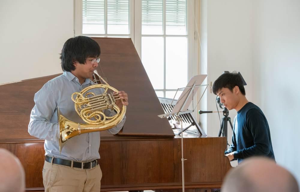 Tom and Yod playing at Palais Kraft