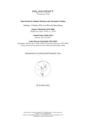 Program Recital 13 OCT 2018