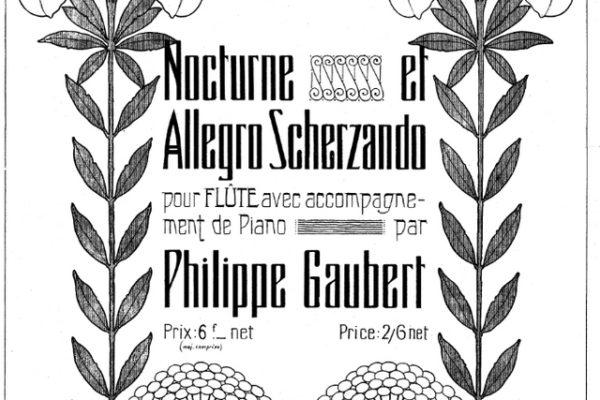 Philippe Gaubert Nocturne et allegro scherzando